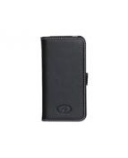 Insmat Exclusive - Skydd för mobiltelefon - läder - svart - för
