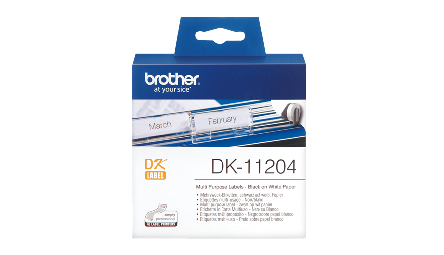 Etiketter BROTHER Universal DK-11204, 54x17mm, 400/fp