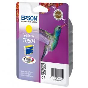 Epson T0804 - 7.4 ml - gul - original - blister
