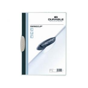 Klämmapp DURABLE Swingclip A4 Vit, 30 blad, 5/fp