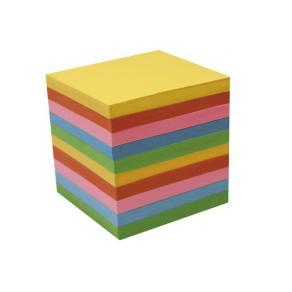 Blockkub Refill, färgat papper, 95x95mm, 850bl