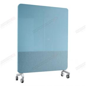 Skrivtavla Lintex Mobile Fabric, 1500x1960mm, Isblå, grå stativ
