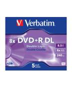 DVD+R VERBATIM DL 8.5GB 8X jewelcase (5