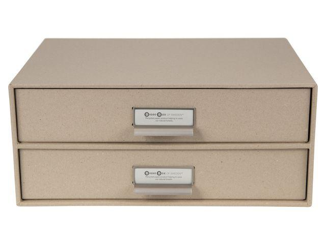 Splitter nya Skrivbordsbyrå kartong 2-lådor natur, endast 129 kr GP-04