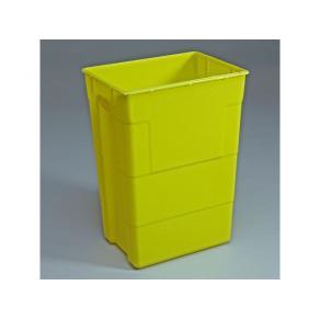 Riskavfallsbehållare 50l gul