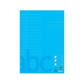 Skolhäfte A4 14,5 mm lin.blå