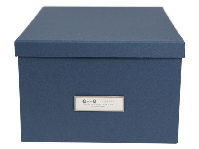 Populära Förvaringsbox m.lock kartong blå, endast 52 kr XE-97
