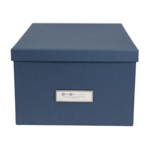 Förvaringsbox m.lock kartong blå