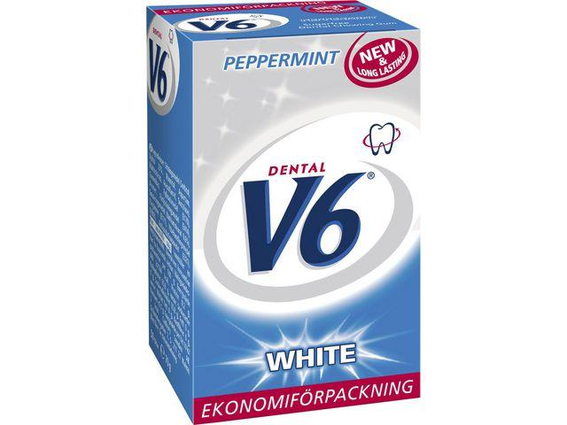 DENTAL V6 Tuggummi White Peppermint ask, 50st