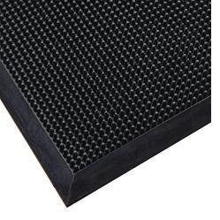 Skrapmatta Rubett 81x99cm svart