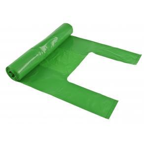 Soppåse handtag 30L 35my grön, 100% recycle, 25/rl