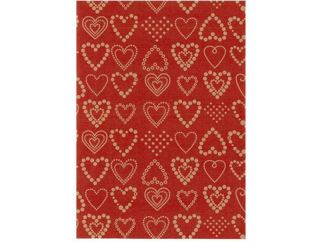 Presentpapper 57cmx154m Dotted Hearts (rulle om 154 m)