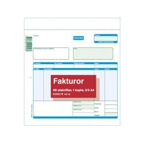 Fakturablock A4 2/3, 2x50 blad, 5st