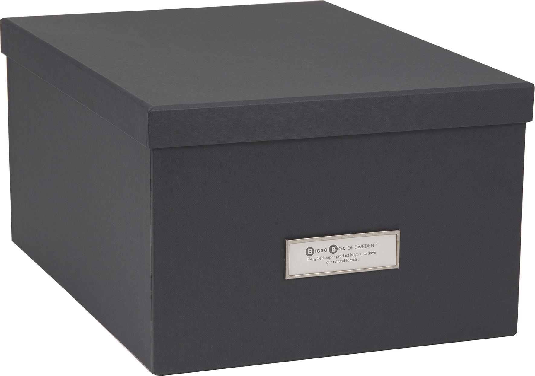 Bra Förvaringsbox m.lock kartong grå, endast 85 kr TV-77