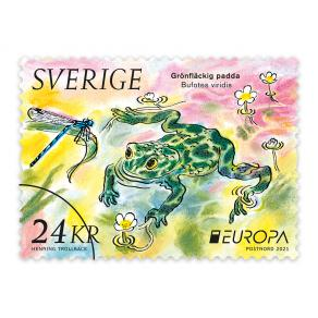 Frimärke utrikes 24kr - Grönfläckig padda