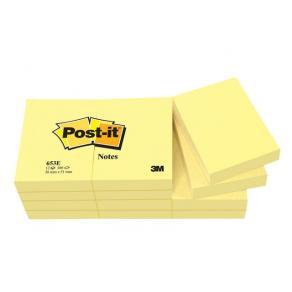 Post-It Gul, 38x51mm, 12st