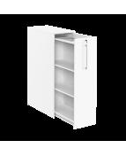 3xA4 sidoskåp inkl pennfackshylla Höger 400x800x1320 vit/vit