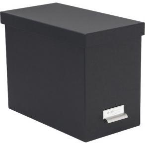 Förvaringsbox hängmapp kartong grå