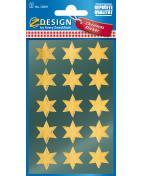 Stickers stjärnor guld 30/fp