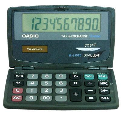 Miniräknare Casio SL-210TE
