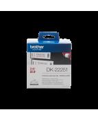 Etikett BROTHER QL 62mm-15m rött/svart på vitt DK-22251