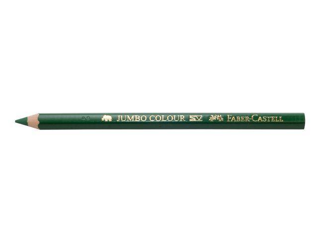 Färgpenna Faber-Castell Jumbo Mörkgrön, 12/fp