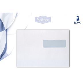 Kuvert C5 H2-Fönster Självhäftande, vit, 90g, 500/fp