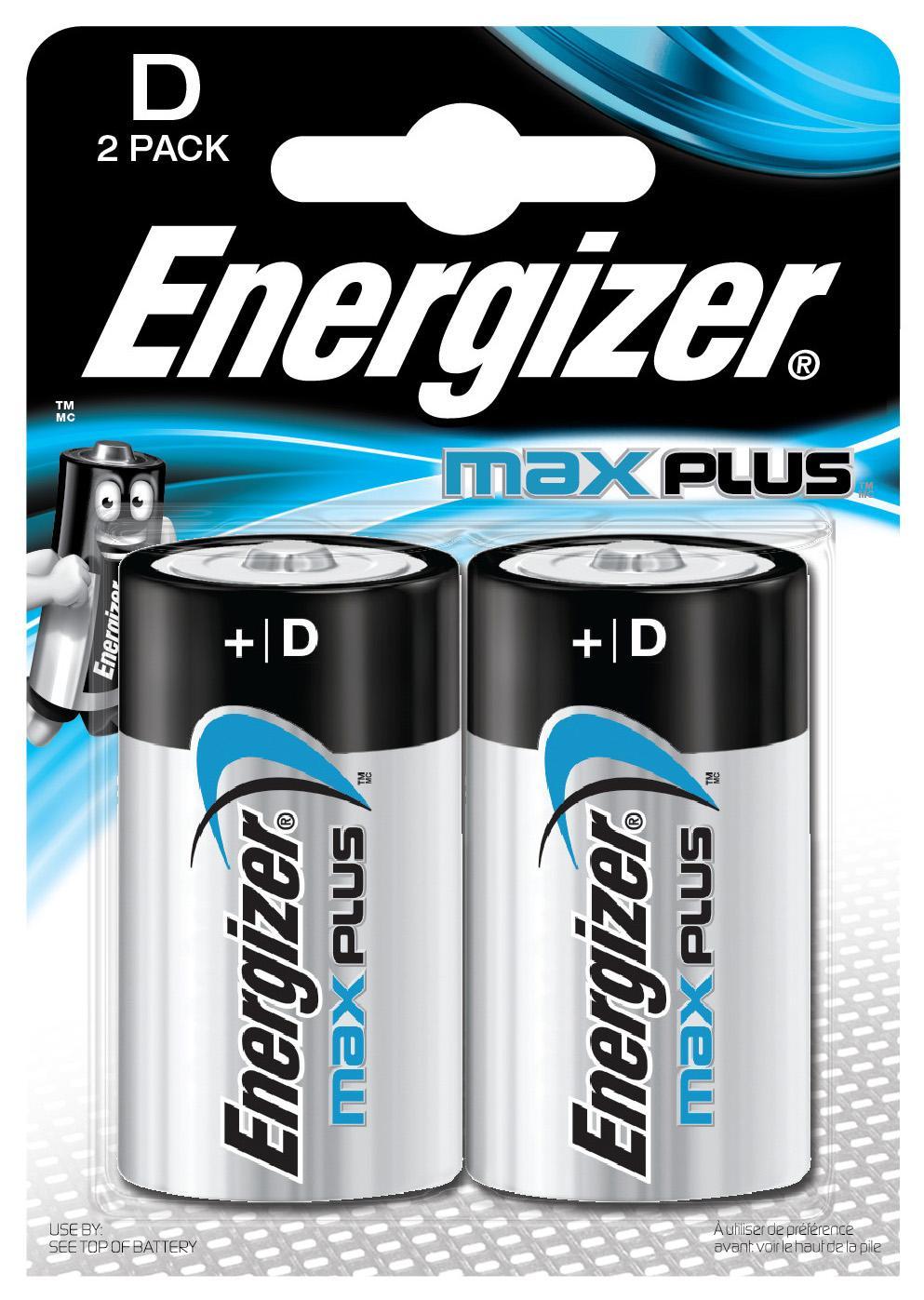 Batteri ENERGIZER Max Plus D 2/FP