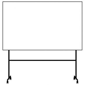 Whiteboard Lintex ONE Mobil Svart, 200x120cm