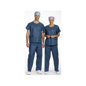 Avd.skjorta Extra Comfort blå L 12/FP