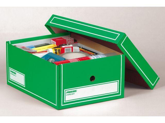 Arkivbox med lock A4 350x255x155mm, Grön, 10st