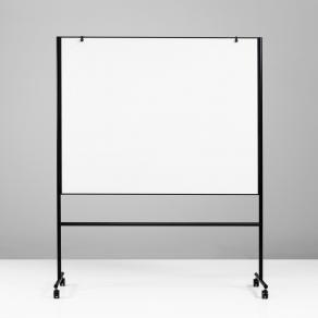 Whiteboard Lintex ONE Mobil, svart, dubbelsidig, 150x120cm