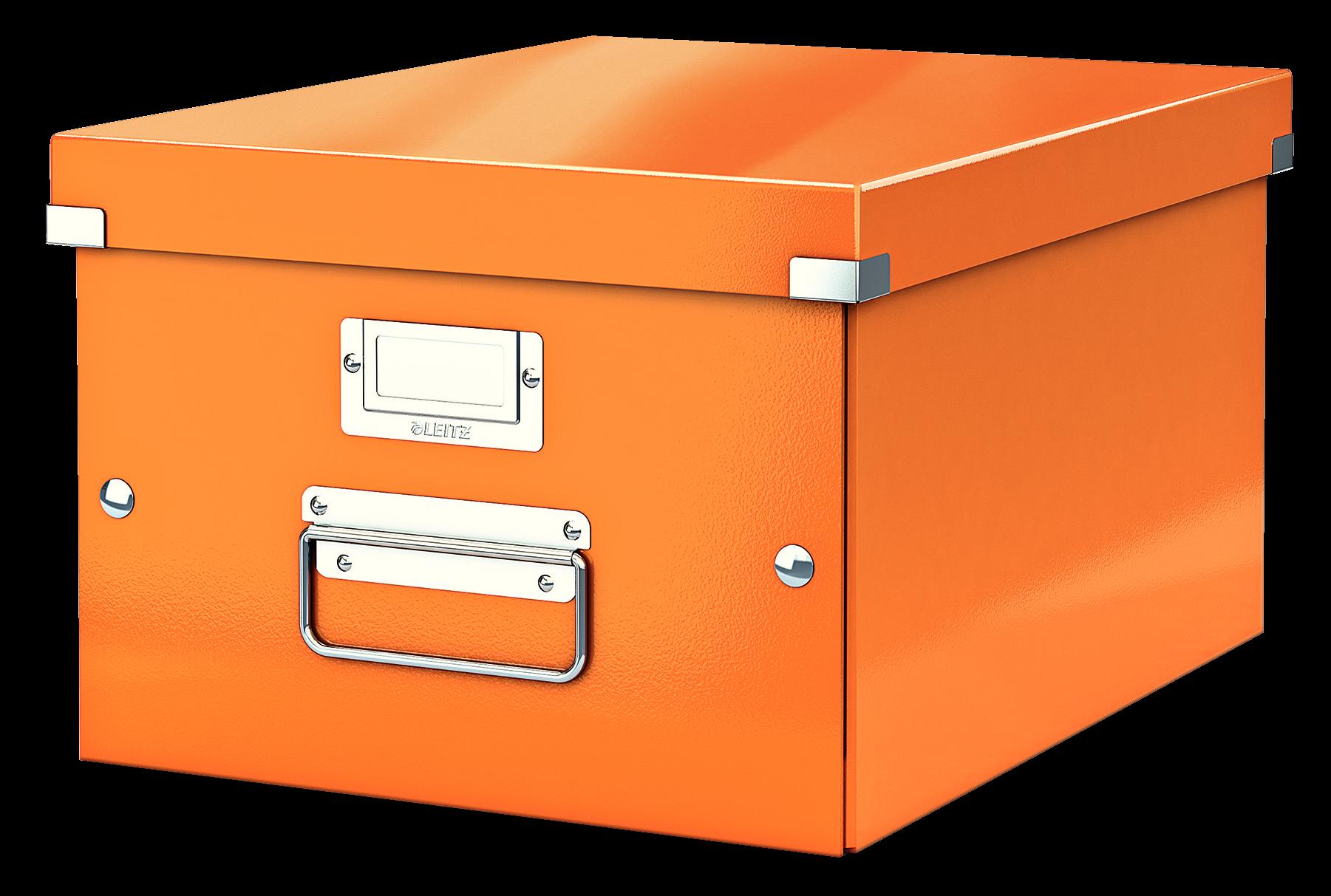 Förvaringslåda Medium Click & Store WOW Orange, 6st 6st