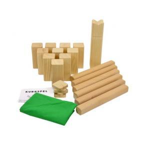 Kubbspel, komplett, massivt trä