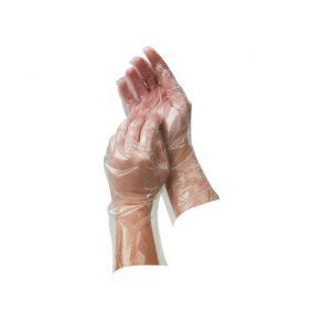 Engångshandske Plast Soft M, antistat, 100/fp
