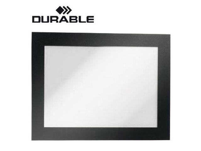Magnetram DURABLE Duraframe A5, svart ram, självhäftande, 2/fp