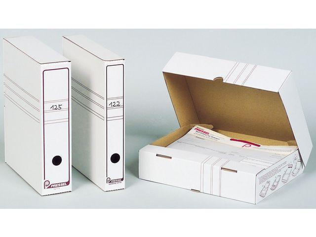 Arkivbox A4 Öppen långsida, 100mm, vit, 20st