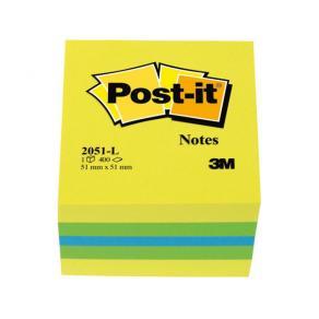 Post-It Kub Mini Lemon, 51x51mm, 400 blad
