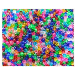 Plastpärlor Kongo Transparent, 1000/fp