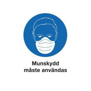 Skylt Använd Munskydd A4 Plast