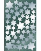 Stickers stjärnor silver 90/fp