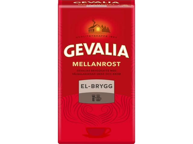 Kaffe GEVALIA El-brygg Mellanrost, 500g