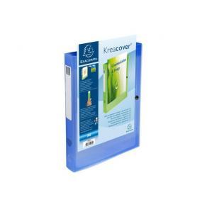 Boxmapp EXACOMPTA A4 PP transp blå