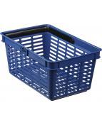 Kundkorg Durable 19 liter blå
