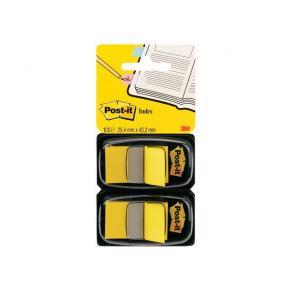 Post-It Index Gul, dubbelpack, 2x50 flikar, 6fp