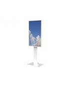 HI-ND - Golvstativ för LCD-display - metall - vit, RAL 9003