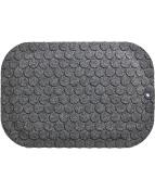 Ståmatta StandUp Circle 53x77cm, textil grå