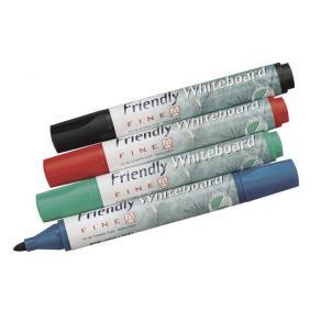Whiteboardpenna FRIENDLY, konisk, 4 färger/fp