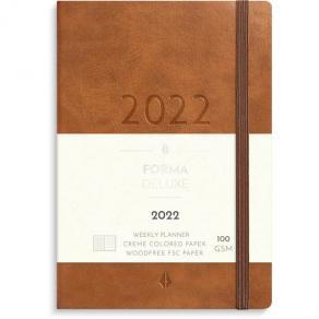 Veckokalender Liten A6 Forma Deluxe brun