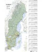 Väggblad med Sverigekarta - 5085